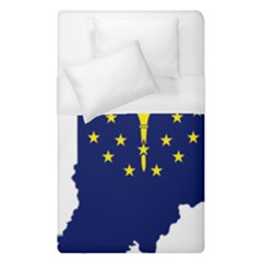 Flag Map Of Indiana Duvet Cover (single Size)