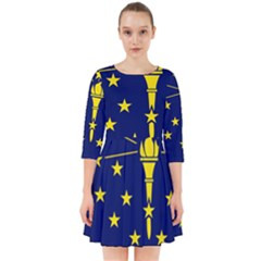 Flag Map Of Indiana Smock Dress