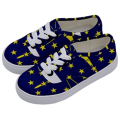Flag Map Of Indiana Kids  Classic Low Top Sneakers by abbeyz71