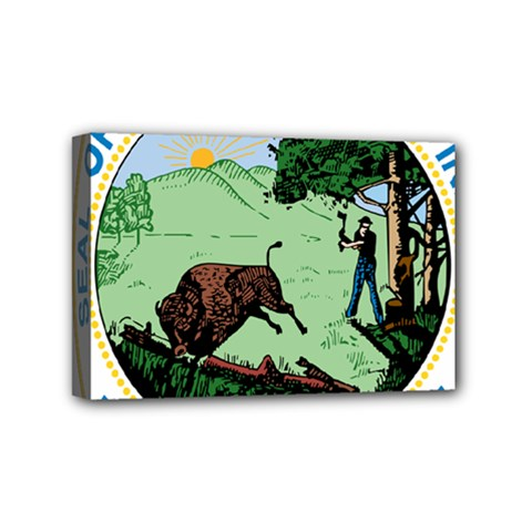 Great Seal Of Indiana Mini Canvas 6  X 4  (stretched)