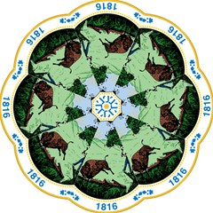 Great Seal Of Indiana Straight Umbrellas