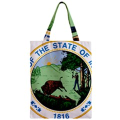 Great Seal Of Indiana Zipper Classic Tote Bag