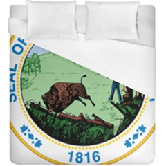 Great Seal Of Indiana Duvet Cover (king Size)