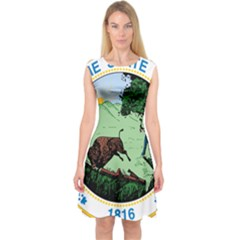 Great Seal Of Indiana Capsleeve Midi Dress