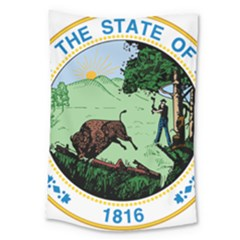 Great Seal Of Indiana Large Tapestry