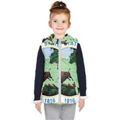 Great Seal Of Indiana Kid s Hooded Puffer Vest