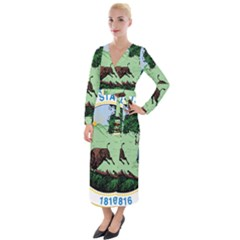 Great Seal Of Indiana Velvet Maxi Wrap Dress