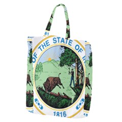 Great Seal Of Indiana Giant Grocery Tote by abbeyz71