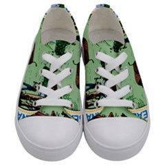 Great Seal Of Indiana Kids  Low Top Canvas Sneakers