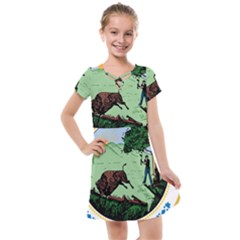 Great Seal Of Indiana Kids  Cross Web Dress