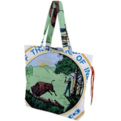 Great Seal Of Indiana Drawstring Tote Bag