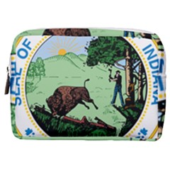 Great Seal Of Indiana Make Up Pouch (medium)