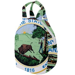 Great Seal Of Indiana Travel Backpacks by abbeyz71