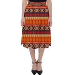 Abstract Lines Seamless Art  Pattern Classic Midi Skirt