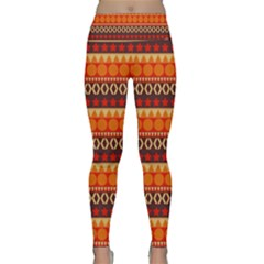 Abstract Lines Seamless Art  Pattern Lightweight Velour Classic Yoga Leggings