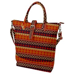 Abstract Lines Seamless Art  Pattern Buckle Top Tote Bag