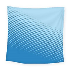 Blue Dot Pattern Square Tapestry (large)