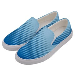 Blue Dot Pattern Men s Canvas Slip Ons by Jojostore