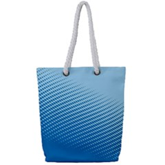 Blue Dot Pattern Full Print Rope Handle Tote (small)