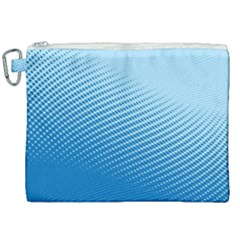 Blue Dot Pattern Canvas Cosmetic Bag (xxl)