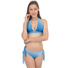 Blue Dot Pattern Tie It Up Bikini Set
