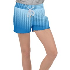 Blue Dot Pattern Women s Velour Lounge Shorts