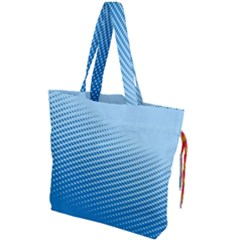Blue Dot Pattern Drawstring Tote Bag by Jojostore