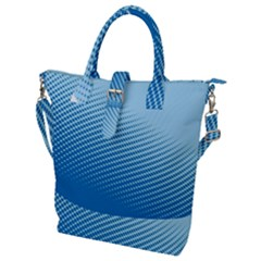 Blue Dot Pattern Buckle Top Tote Bag