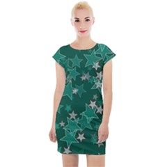 Star Seamless Tile Background Abstract Cap Sleeve Bodycon Dress