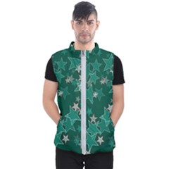 Star Seamless Tile Background Abstract Men s Puffer Vest