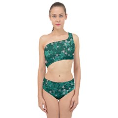 Star Seamless Tile Background Abstract Spliced Up Two Piece Swimsuit
