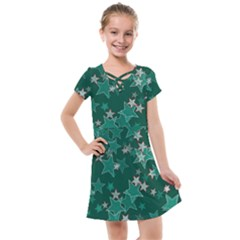 Star Seamless Tile Background Abstract Kids  Cross Web Dress