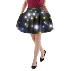 Abstract Dark Spheres Psy Trance A Line Pocket Skirt