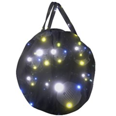 Abstract Dark Spheres Psy Trance Giant Round Zipper Tote by Jojostore