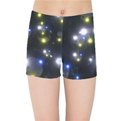Abstract Dark Spheres Psy Trance Kids Sports Shorts by Jojostore