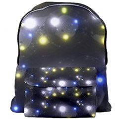 Abstract Dark Spheres Psy Trance Giant Full Print Backpack by Jojostore