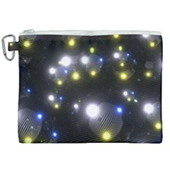 Abstract Dark Spheres Psy Trance Canvas Cosmetic Bag (xxl) by Jojostore