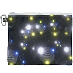 Abstract Dark Spheres Psy Trance Canvas Cosmetic Bag (xxxl) by Jojostore