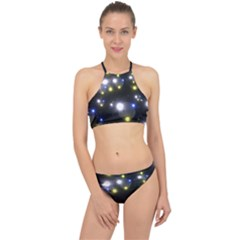 Abstract Dark Spheres Psy Trance Racer Front Bikini Set