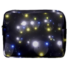 Abstract Dark Spheres Psy Trance Make Up Pouch (large) by Jojostore