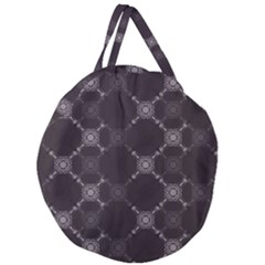 Abstract Seamless Pattern Giant Round Zipper Tote
