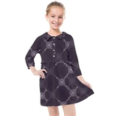 Abstract Seamless Pattern Kids  Quarter Sleeve Shirt Dress