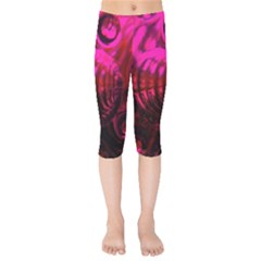 Abstract Bubble Background Kids  Capri Leggings