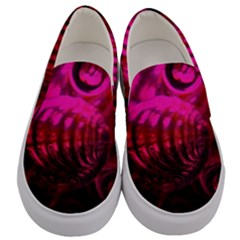 Abstract Bubble Background Men s Canvas Slip Ons