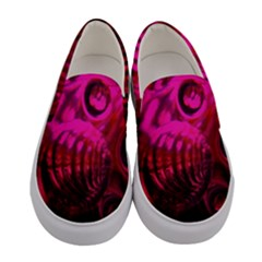 Abstract Bubble Background Women s Canvas Slip Ons