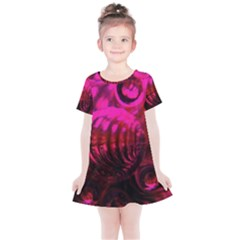 Abstract Bubble Background Kids  Simple Cotton Dress by Jojostore