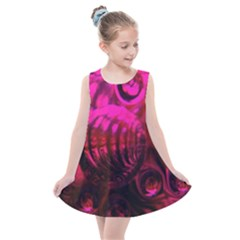 Abstract Bubble Background Kids  Summer Dress by Jojostore