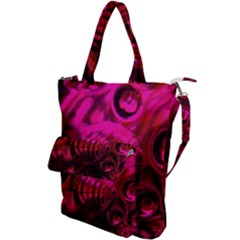 Abstract Bubble Background Shoulder Tote Bag