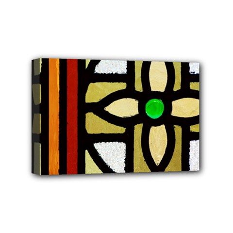 A Detail Of A Stained Glass Window Mini Canvas 6  X 4  (stretched) by Jojostore