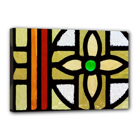 A Detail Of A Stained Glass Window Canvas 18  X 12  (stretched) by Jojostore